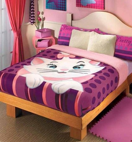 Cobertor Fleece con Borrega Pretty Marie  #Cobertores #Hogar #Color #Cobertor #Decoracion #Hogar #Aristogatos #Cats #Marie #Pink #IntimaCobertores #Cama #IntimaHogar