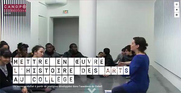 Mise en œuvre de l'enseignement de l'histoire des arts, dans le cadre du Parcours d'éducation artistique et culturelle #EACCanope