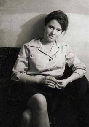 Ulrike Meinhof as a young journalist, around 1964