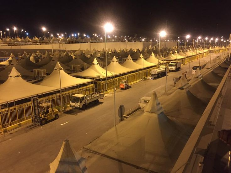 A view of campsite in Mina, #Mecca. #Mina - The city of tents ⛺ #CityofTents #Hajj #AlHaqTravel