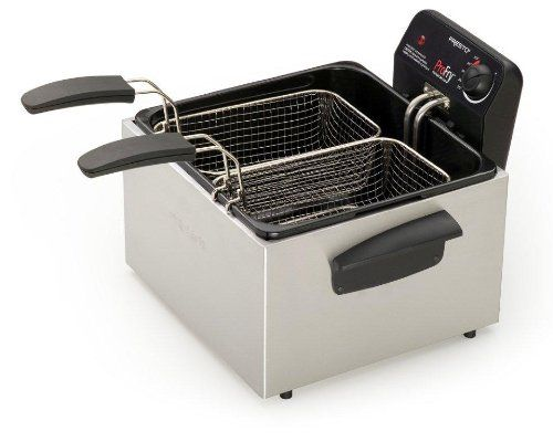 Presto 05466 Stainless Steel  Dual Basket Pro Fry Immersion Element Deep Fryer