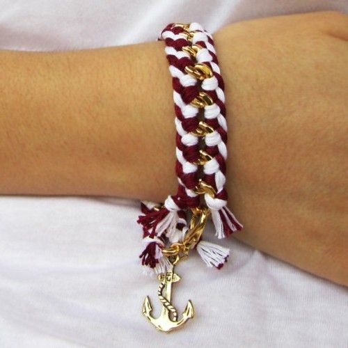 anchor bracelet: Anchors Bracelets, Chains Bracelets, Gift Ideas, Cute Bracelets, Diy Jewellery, Nautical Bracelets, Nautical Anchors, Diy Bracelets, Friendship Bracelets