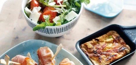 Visspiesje met rauwe ham en bosui