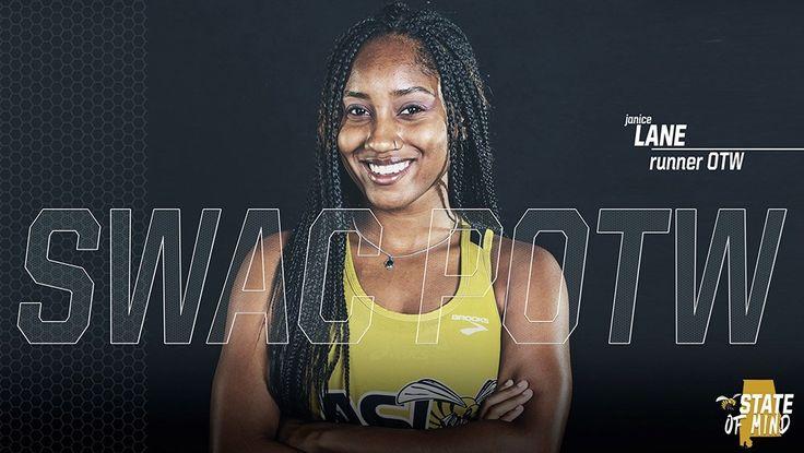 Janice Lane named SWAC Female Runner of the Week
