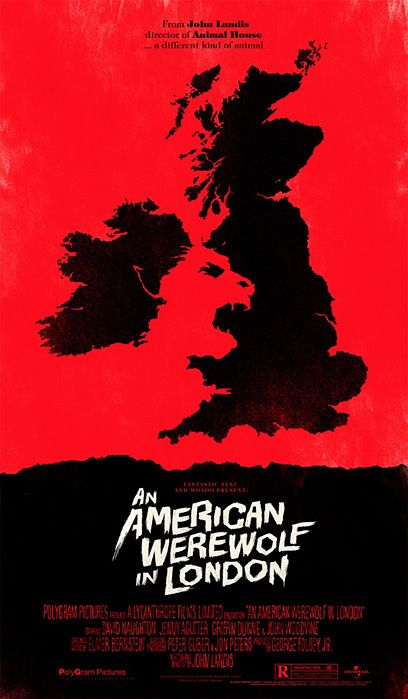 werewolf.: Movie Posters, Cool Posters, Picture-Black Posters, Negative Spaces, American Werewolf, Posters Design, Olli Moss, Alternative Movie, Favorite Movie