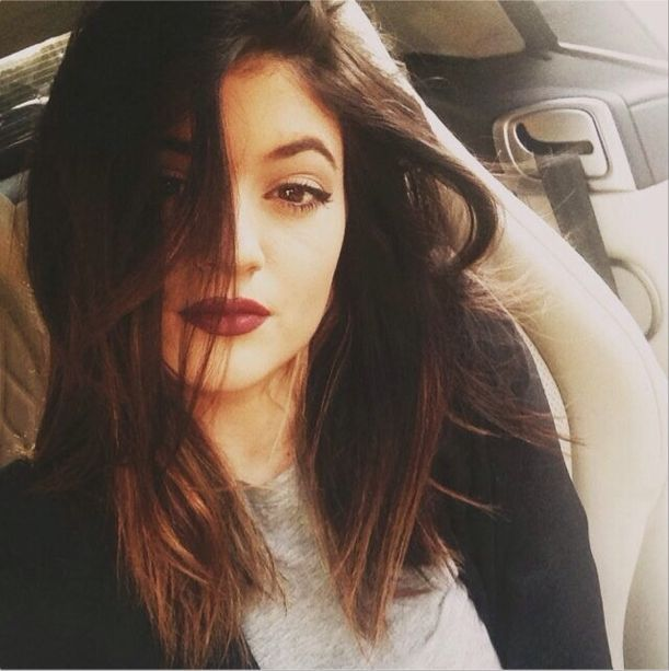 Kylie Jenner's new haircut. Blunt long bob   ombre