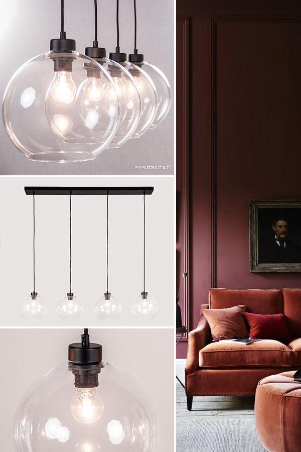 glas hoeft niet saai te zijn dat bewijst deze moderne 4 lichts hanglamp de glazen bollen hebb luxury living luxe verlichting met een tikje glam in