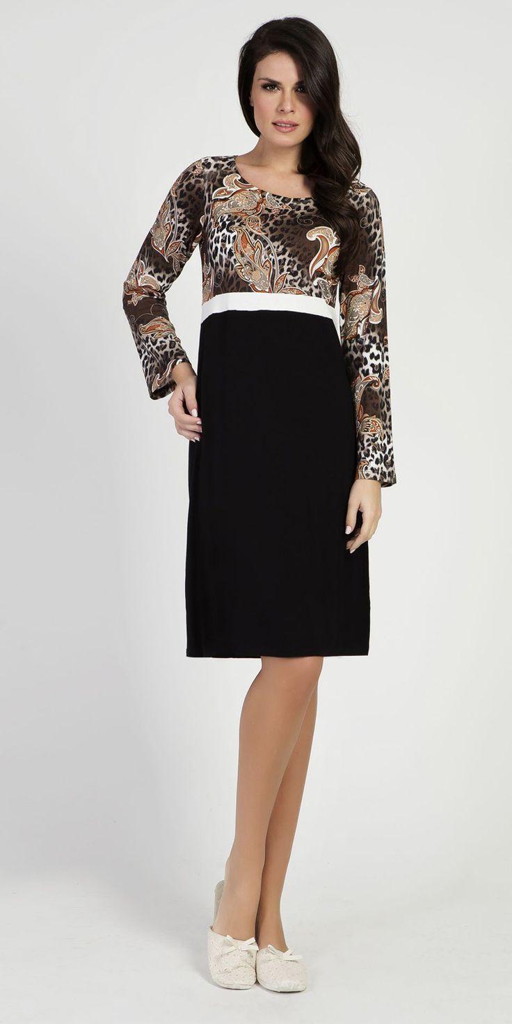 Homewear Dress 95% Viscose 5% Elastane | Loungewear| Vamp! Homewear Dress 95% Viscose 5% Elastane 5316