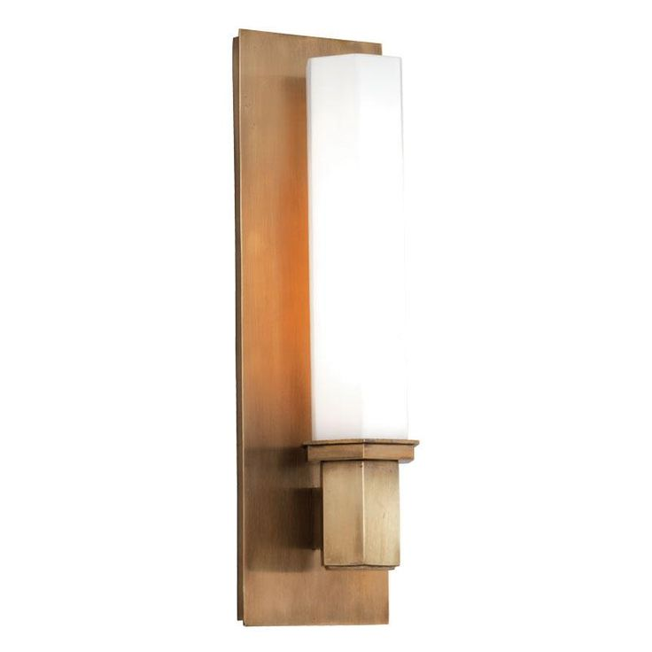 The Art Gallery Walton Aged Brass One Light Sconce Hudson Valley Light Armed Glass Wall Sconces Wall Lig