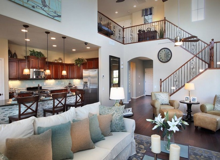 Beautiful Staircase And Living Room Flow In This Pulte Home