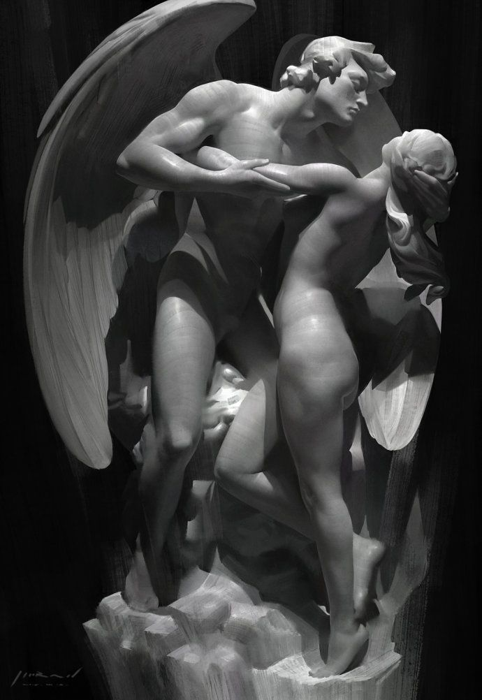 There in the darkness was hid the fires of Eros... and his endless passion for his beloved Psyche... a love that never ends... xo