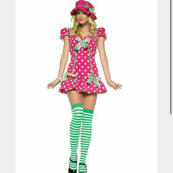 Leg avenue strawberry shortcake costume Pink and green all items included.  if you're interested I can take more pictures just let me know! leg avenue  Other
