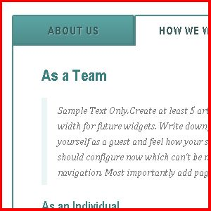 This widget is made with CSS3 using radio buttons which is very common these days for