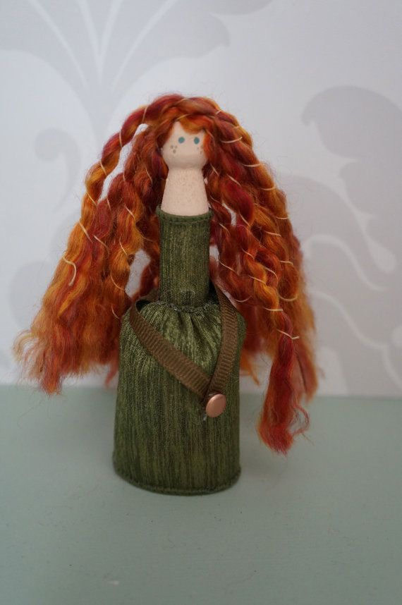 Merida Brave Clothespin Doll. Handmade by poywPrincessParties, $9.99. www.partof...