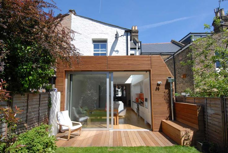 Wooden, small glass extension