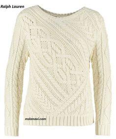 Вязаный пуловер спицами от Ralph Lauren - СХЕМЫ http://mslanavi.com/2016/09/vyazanyj-pulover-spicami-ot-ralph-lauren/