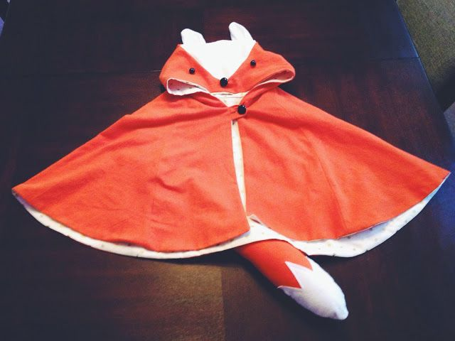The Parker Project: Halloween: Custom Toddler Fox Cape Costume