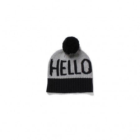 Hello Beanie - Grey/Black