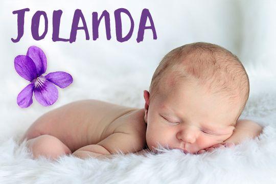 Blumige Mädchennamen: Jolanda