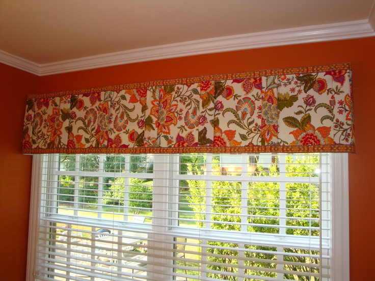 Valance Made From A Table Runner Window Treatments