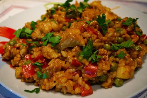 Home food: Паэлья с курицей и морским коктейлем / Paella with chicken and seafood cocktail