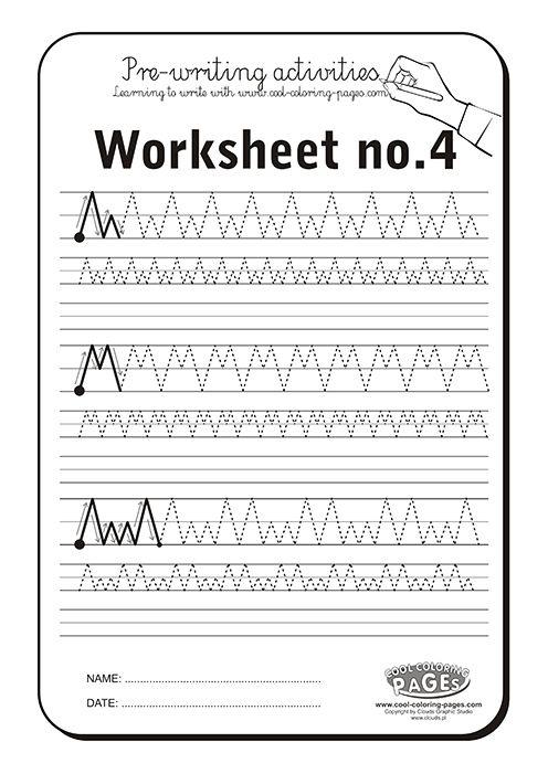 Pre-writing activities - Worksheet no.4