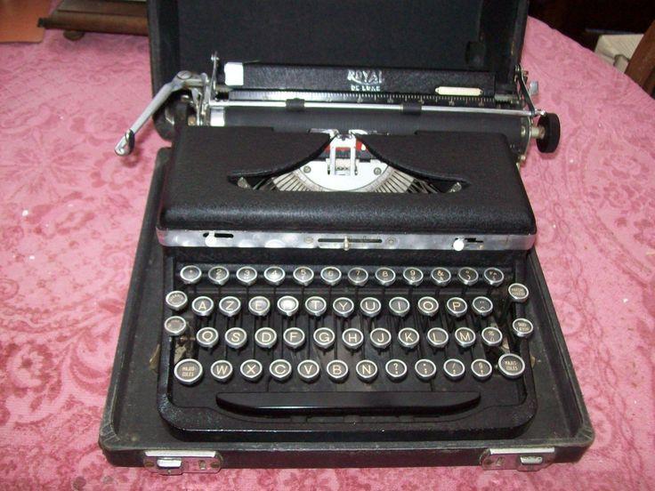ANCIENNE MACHINE A ECRIRE ROYAL | Collections, Ecriture, dessin, Machines à écrire | eBay!