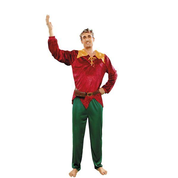 DisfracesMimo, disfraz de duende del bosque hombre. Es perfecto para sorprender a amigos y familiares disfrazándote de ayudante de Santa Claus en tus Celebraciones y Eventos relacionados con la Navidad.
