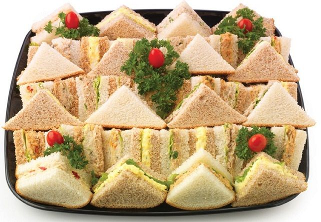 finger sandwiches for baby shower tea time pinterest food menu