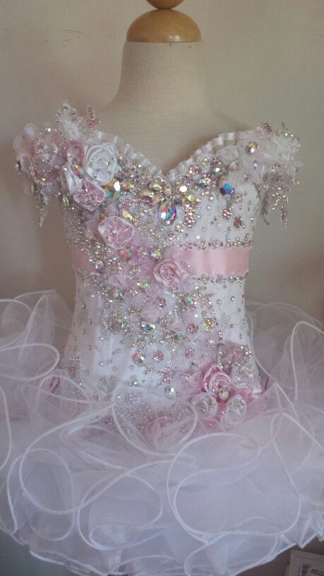 Child pageant dress, cupcake dress, toddler, ruffles, cute clothes for children, glitz