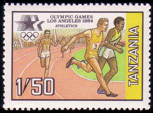Stamp from Tanzania | Los Angeles 1984, Olympic Games