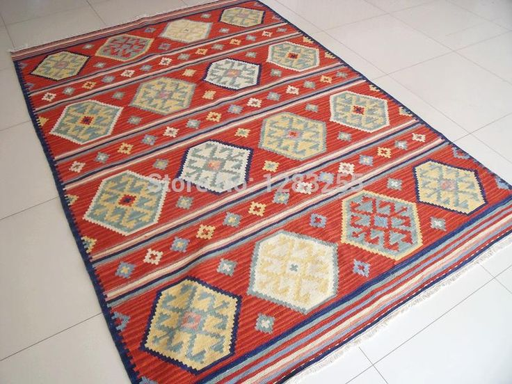 Kilim Rug Quality Bohemian Floor Carpet Directly From China Wool Suppliers Vintage Handwoven Carpets Thin