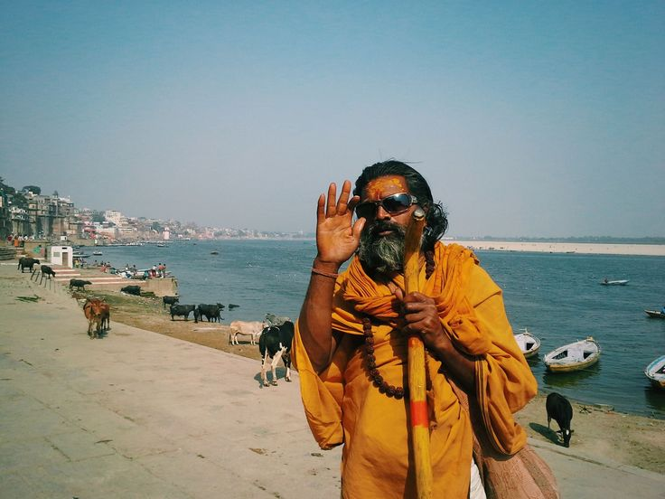Guru at Ganges river