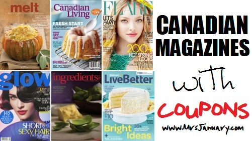Magazines with Coupons in Canada via MrsJanuary.com #coupons #extremecouponing