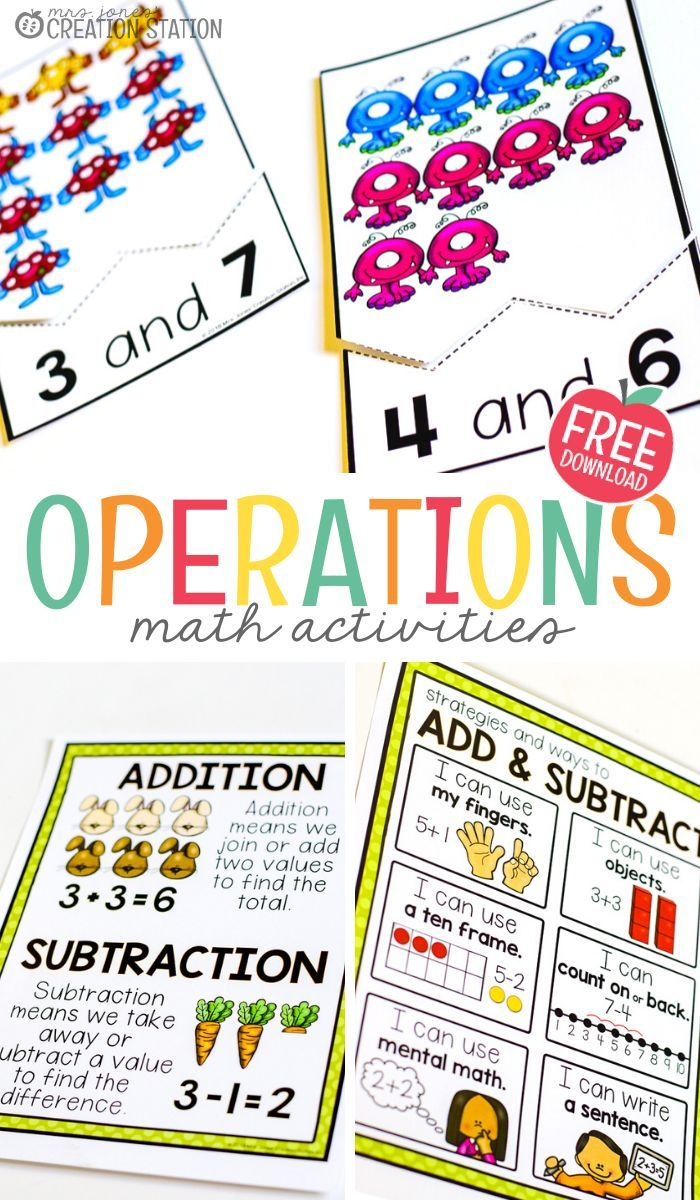 Introducing Addition And Subtraction Activities Mrs Jones Creation Station Math Lesson Plans Elementary Kindergarten Math Activities Subtraction Activities Introducing addition in kindergarten