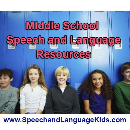 Are you a speech therapist or parent of a middle schooler with speech/language…