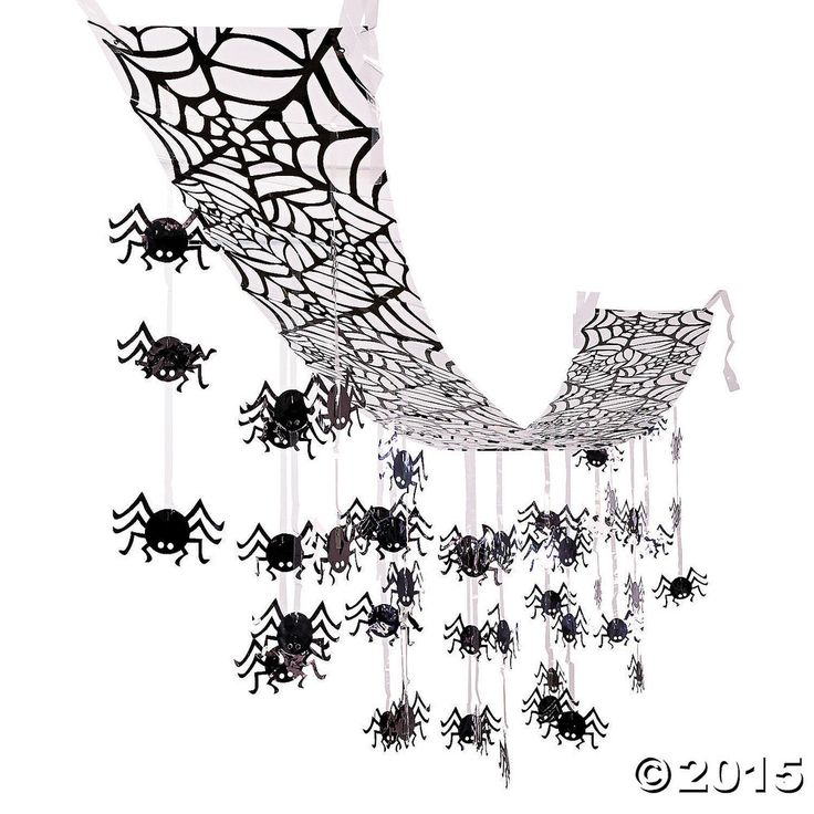 """Hanging Spider Halloween Ceiling Decorations 12"""" x 12 Ft 