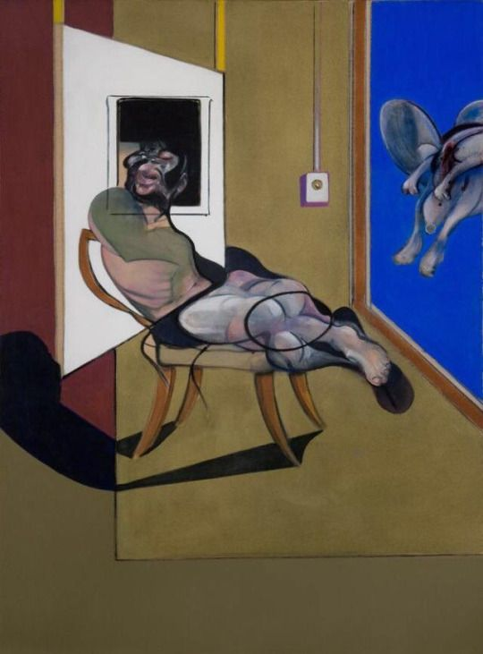 """Francis Bacon """"Seated Figure"""" 1974"""