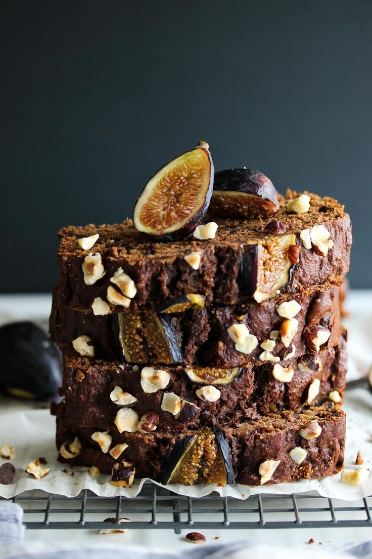Whole Wheat Chocolate Almond Butter Fig Bread.