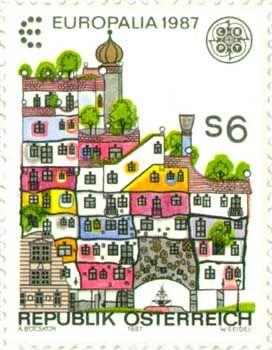 Hundert Wasser Haus - love this stamp, I still have it somewhere...