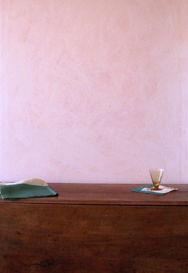 Pink Venetian plaster
