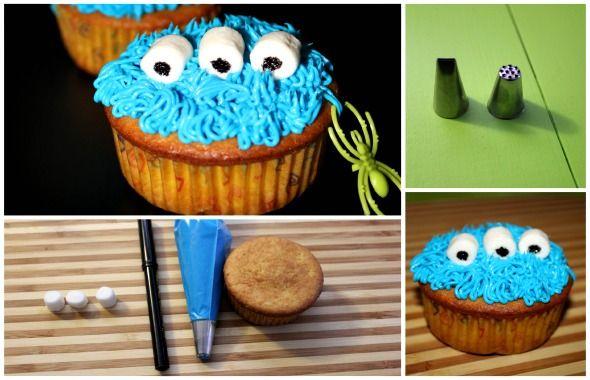 Prepara y Decora Cupcakes para Halloween Momias y Monstruos. #meriendaholloween #comidadeholloween
