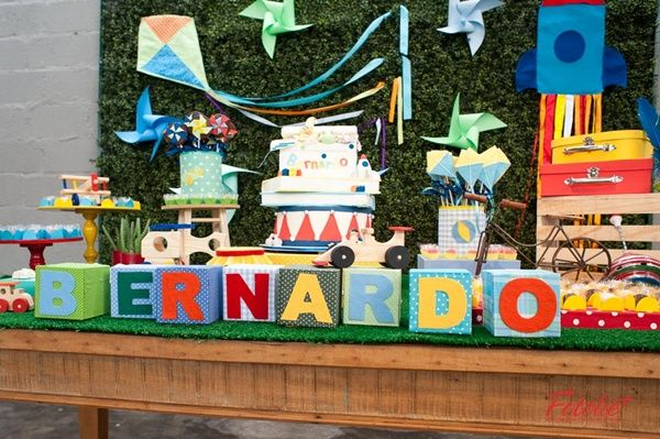 "Festa ""Brincadeira de Menino""! Boys's Play and Fun Party!"