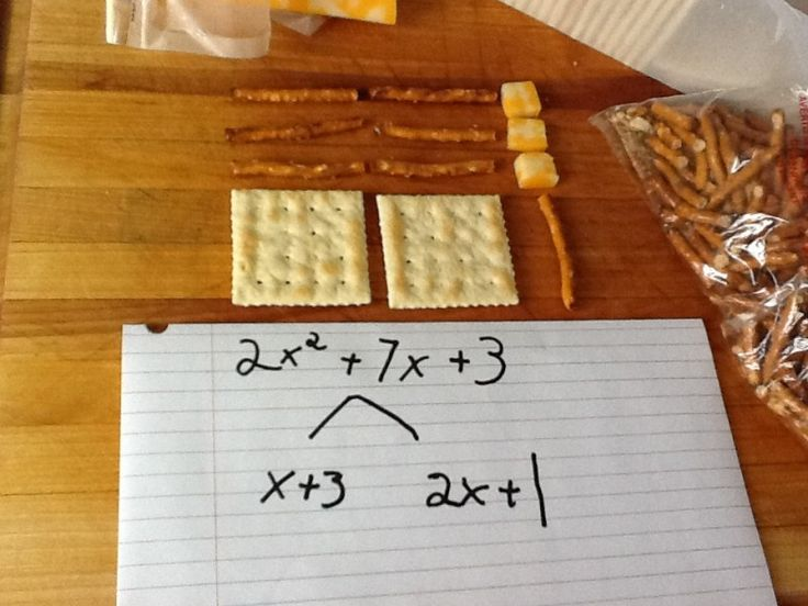 Factoring with cheese and crackers! by @milesmac