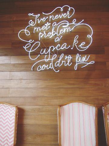 Vanilla Cupcake Bakery neon lights