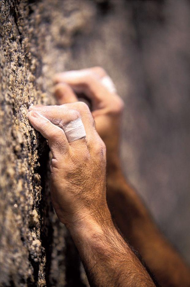 Beautiful Rock Climber's Hands