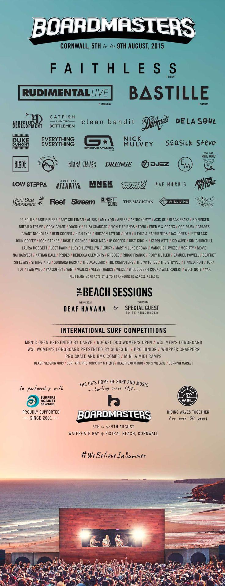 Line Up | Boardmasters Festival 2015