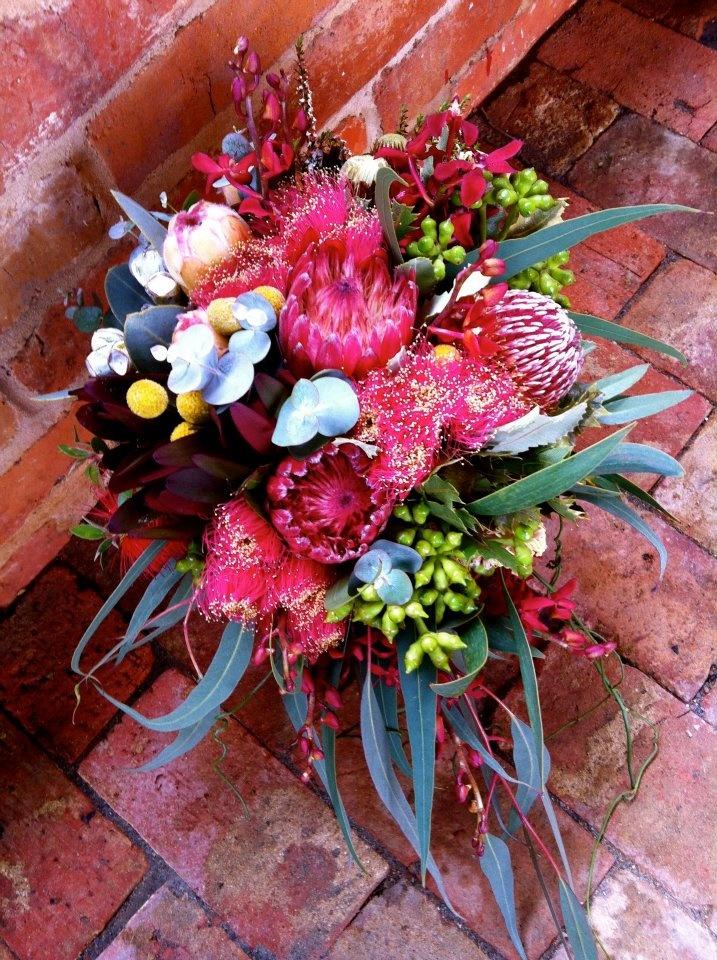 "Australian Native Bouquet - beautiful vivid colours ""Rutherglen Florist'"