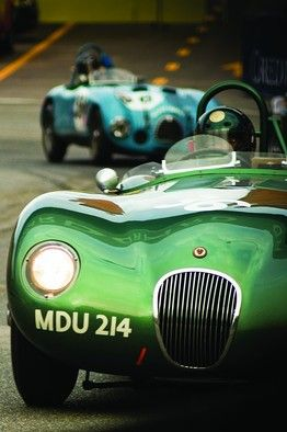Duncan Hamilton's 1952 Jaguar, the first privately owned C-Type, in a Historic Grand Prix