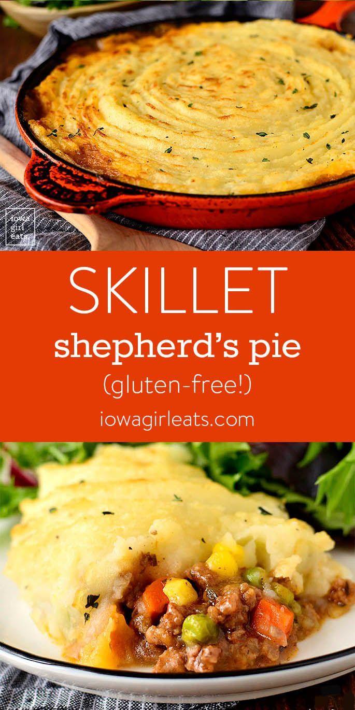 Bratpfanne Shepherd's Pie ist Trost in einer Schüssel! Nehmen Sie vom Herd in den Ofen, …   – Blogger Recipes We Love